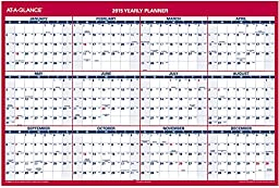 AT-A-GLANCE XL Wall Planner 2015, Erasable, 2-Sided, Reversable, Vertical and Horizontal, 48 x 32 Inches (PM326-28)