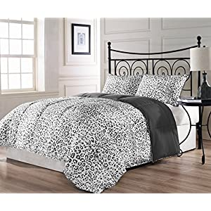 ExceptionalSheets Snow Leopard Comforter, Twin