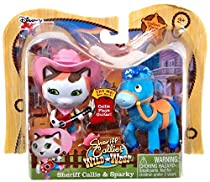 Disney Junior Sheriff Callie's Wild West, Sheriff Callie and Sparky Figure 2-Pack, 2.5 Inches