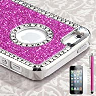 Pandamimi Iphone 5 Case - Deluxe Rose Pink Diamond Rhinestone Glitter Bling Chrome Hard Case Cover For Apple IPhone...