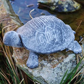 Ornamental Weather are proud to present the Verdigris Grey Finish Cast Iron Tortoise Garden Ornament