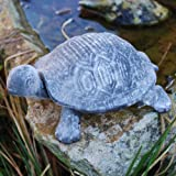 Verdigris Grey Finish Cast Iron Tortoise Garden Ornament