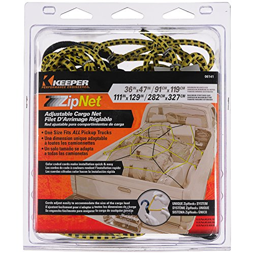 Keeper 6141 Zip Net Adjustable Cargo Net (Cargo Net Replacement Hooks compare prices)