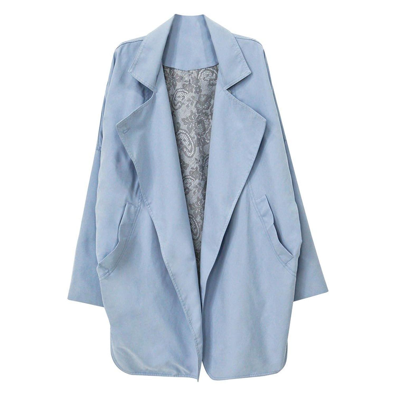 Amazon.co.jp: (ニッポンチューヤ)NIPONJJUYA ドロップショルダートレンチコート フリーサイズ スカイブルー: 服&ファッション小物通販