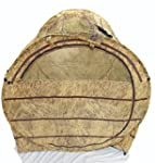 hunting blind: in haybale shape, comp...