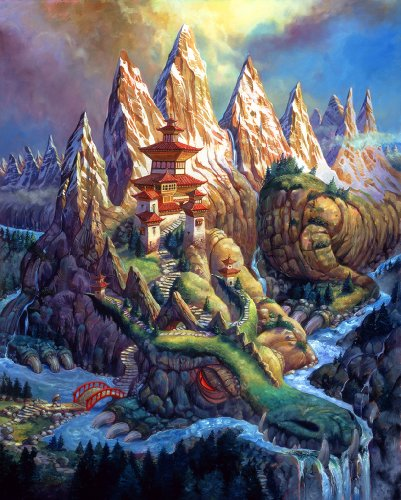 Barnard Dragon Mountain Wooden Jigsaw Puzzle