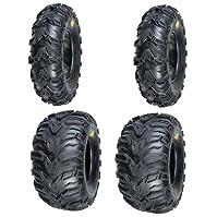 cheap atv tires-2 FRONT 25-8-12 & 2 REAR 25-10-12 ATV MUD REBEL TIRES
