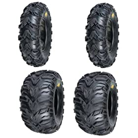 cheap atv tires-2 FRONT 25-8-12 & 2 REAR 25-10-12 ATV MUD REBEL TIRES