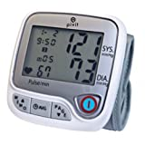 Pivit Automatic Wrist Blood Pressure Monitor | 4 User 396 Total Memory with Averages | Irregular Heartbeat Detection | Large 6 Color Option LED Display | Clinically Accurate Vitals Within Seconds (Color: Silver, White, Tamaño: 72*97MM)