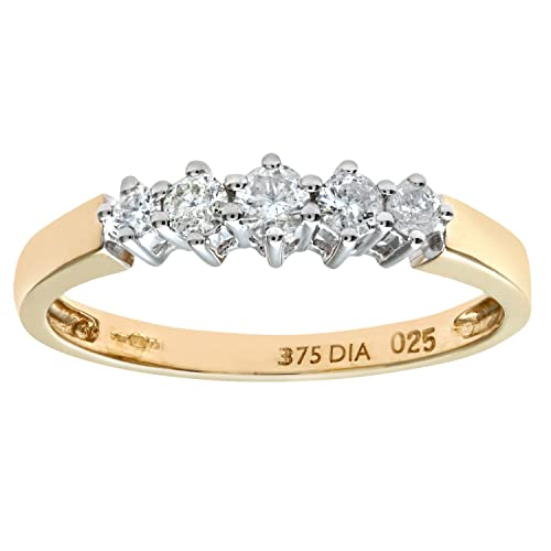 Naava 9ct 0.50ct Diamond Graduated Eternity Ring