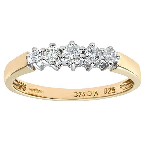 Naava 9ct 0.50ct Diamond Graduated Eternity Ring