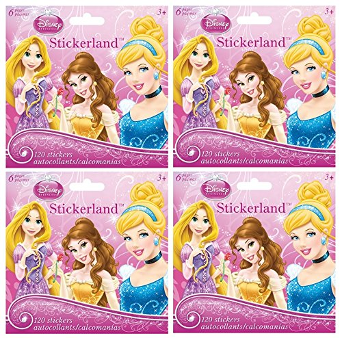 Disney Princess Mini Stickerland Deluxe Party Favors ~ 8 Sticker Pads