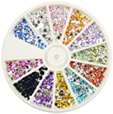 Nail Art MoYou Rhinestone MIX Pack of 1000 Crystal Premium Quality Gemstones in 12 different shapes, colours and sizes, beauty accessory for women nails, fun and easy to apply with top coat or nail glue