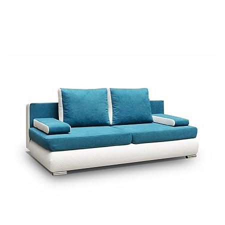 Sofa Luiza Polstersofa Couch Couchgarnitur, Komfortsofa, Wohnzimmer Schlafsofa Modern (Soft 017 + Rico 11)