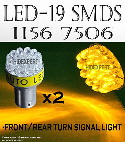2 pcs Super Yellow 15 Led Bulbs For T20 7440 Fast Shipping