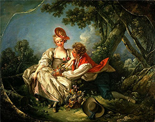 Oil Painting 'Francois Boucher - The Four Seasons-Autumn, 1755', 20 x 25 inch / 51 x 65 cm , on High Definition HD canvas prints is for Gifts And Bath Room, Foyer And Garage Decoration
