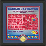 "NCAA Kansas Jayhawks ""State"" Bronze Coin Photo Mint, 18 "" X 14"" X 3"", Bronze"
