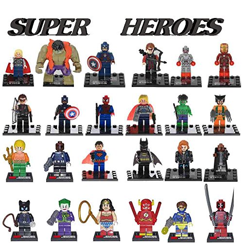 New 24 MiniFigure Toy Super Heroes Building Toys (Custom Marvel Legends compare prices)
