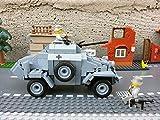 Modbrix 2366 - ✠ Wehrmacht Bausteine Panzerspähwagen Sd.Kfz. 222 inkl. custom Wehrmacht Soldaten aus original Lego© Teilen ✠ - 3