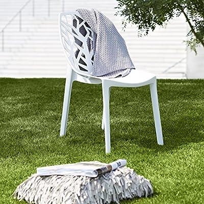LOMOS® No.9 Design Stuhl aus wetterfestem Kunststoff in schwarz von Mercatura Warenhandel GmbH bei Gartenmöbel von Du und Dein Garten
