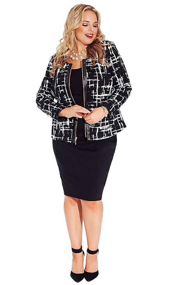 IGIGI Women's Plus Size Louise Jacket in Lattice Noir