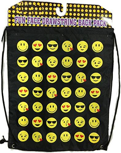 Black Emoji Draw String Bag (Emoji Draw compare prices)