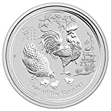 2017 AU Australia Silver Lunar Year of the Rooster (10 oz) $10 Brilliant Uncirculated Perth Mint