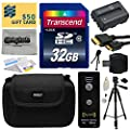 """Must Have Accessories Bundle Kit for Sony Alpha A230, A290, A330, A380, A390 DSLR Digital Camera includes 16GB Class 10 SDHC Memory Card + Replacement (1500mAh) NP-FH50 Battery + Professional 60"""" Inch Photo/Video Tripod + Hard Shell Carrying Case + Wirele"""