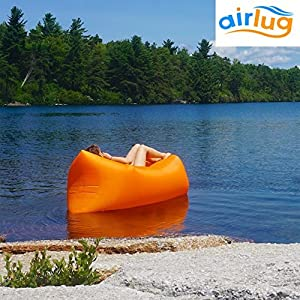 Luxury Inflatable Lounger Sofa by Airlug | No Pump Required | Inflates Instantly | Indoor & Outdoor Air Bed Hammock | Lamzac Lounge Chair Bean Bag for Beach Patio Poolside Camping | Portable Furniture