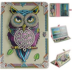 iPad Pro 9.7 Case, Gift_Source Brand [Kickstand Feature] Premium PU Leather Wallet Soft TPU Case with Card Slots Folio Flip Case Cover for Apple iPad Air 3 / iPad Pro 9.7 inch [Owl]
