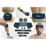 Serenity 2000   Full Body Magnetic Therapy Set for Pain Relief – Eight-Piece Set, Large/XL (Color: Blue, Tamaño: Large/XL)