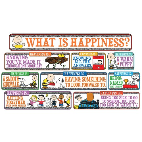 "Eureka Peanuts ""Happiness is."" Mini Bulletin Board Set"