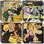 Anne Taintor 18pc Drink Coasters Set For Drinks Glasses Funny Unique Quotes & Photos