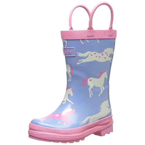 Hatley Big Girls Hearts and Horses Rain Boots