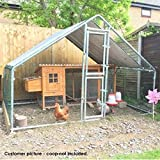 FeelGoodUK Galvanised Cage, 2 x 3 x 2 m