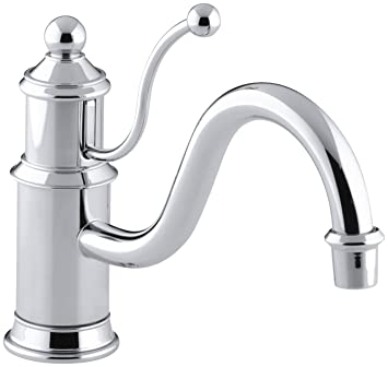 KOHLER K-168-CP Antique Single Control Kitchen Sink Faucet, Polished Chrome