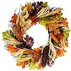 22in Oak Leaves w/ Corn Wreath