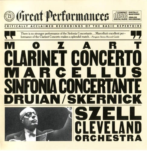 Mozart: Clarinet Concerto, K.622 / Sinfonia Concertante for Violin, Viola, & Orchestra, K.364 / Szell / Cleveland Orchestra / Robert Marcellus (CBS Great Performances)