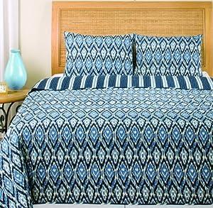 American Mills Ikat Bedding Set, Full/Queen