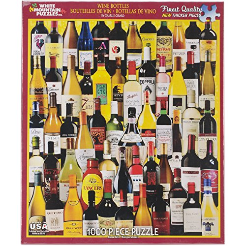 White Mountain Puzzles - Classic Wine Bottles - 1,000 Piece Jigsaw Puzzle (Wine Bottle Puzzle compare prices)