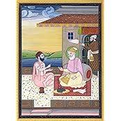 Exotic India Guru Amar Das - The Third Sikh Guru - Miniature Painting On Paper