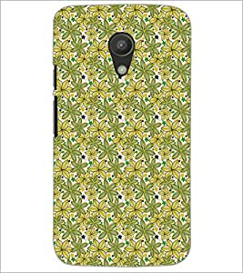 PrintDhaba Floral Pattern D-5341 Back Case Cover for MOTOROLA MOTO G2 (Multi-Coloured)