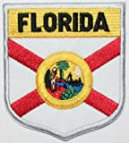 State of Florida Flag Shield Embroidered Applique Patch at Amazon.com