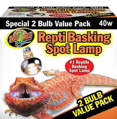 Zoo-Med-SL2-40e-Repti-Basking-Spot-Strahler-fr-Wrme-und-Licht-im-Terrarium-Doppelpack-2-x-40-W
