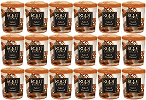Root Candles Votive Scented Candle, Salted Caramel, Box of 18