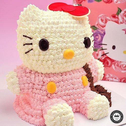 ハローキティ 立体 ケーキ 約8~10人分 3D デコレーション Hello Kitty の キャラクターケーキ 化粧箱入り