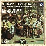 Telemann : Concertos pour instruments à vent (flûtes, hautbois, trompette, chalumeaux etc) / Reinhardt Goebel & Musica Antiqua Köln