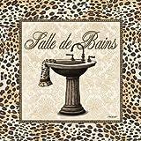 Leopard Sink Cool Bath Classy Retro Sign Modern Bathroom French Amazing Bedroom Poster 12X12