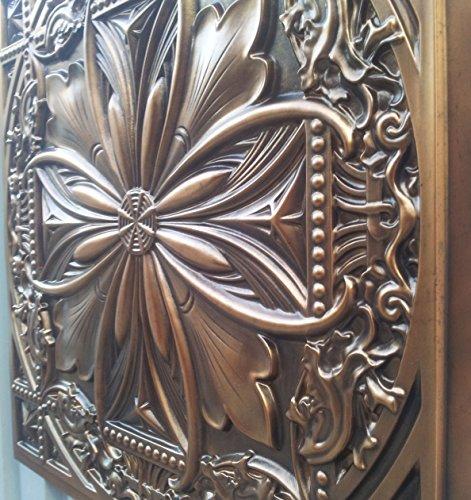 PL10en finition cuivre antique plafond Panneaux muraux décoration carrelage 3D Relief Café Pub Shop Art 10pieces/Lot) Livraison gratuite