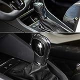 RaxTDM Car Gear Shift Knob Panel Cover Carbon Fiber Stickers for VW Volkswagen Jetta Polo Golf MK4 MK5 MK6 MK7 Passat B5 B6 B7 B8 R Tiguan Bettle Touran Bora Vento Touareg,etc (Color: Black)
